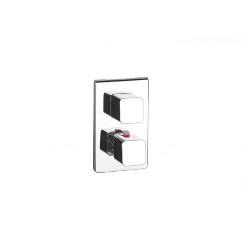 THESIS potinkinis termostatinis vonios/dušo maišytuvas su perjungikliu,chromuotas