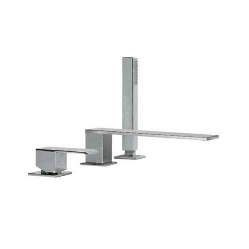 Vonios/dušo maišytuvas CUADRO, 3 dalių, iš vonios krašto, chromas