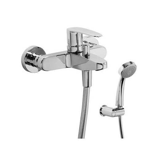 Vonios/dušo maišytuvas FLAT su dušo komplektu, chromas