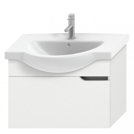 MIO NEW spintelė 75 cm baldiniam praustuvui, 1 stalčius, balta