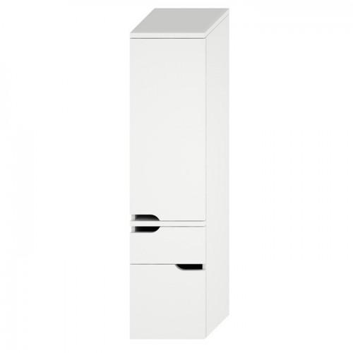 MIO NEW aukšta spintelė su 2 stalčiais, kairinė, balta/balta