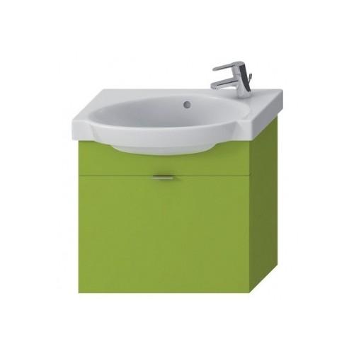 TIGO spintelė su praustuvu 55 × 37 cm, 1 stalčius, žalia