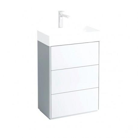 LIVING SQUARE Pastatoma spintelė, 582 x 432 mm, su 3 stalčiais, kompaktišku sifonu, praustuvui 811434