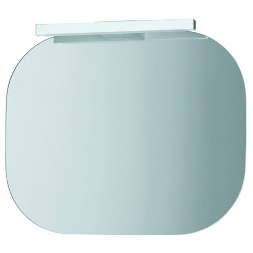 MIMO veidrodis 55 x 45 cm su apšvietimu 230V/8W IP24, ant baltos plokštės