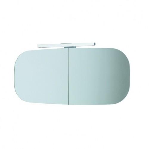 MIMO veidrodinė spintelė 100 x 45 cm su apšvietimu 230V/8W IP44, jungilkiu, rozete.
