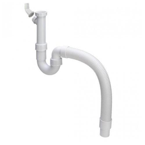 Plautuvės sifonas su lanksčiu pajungimu ir jungtimi skalbimo mašinai 1 1/2 x 40/50