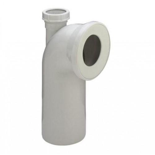 WC pajungimo alkūnė 90* su 50 mm pajungimo atšaka, 100x230x50