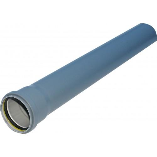 PIPELIFE vidaus kanaliz. PP HT vamzdis 50x1000 mm, su mova pilkas (071133)