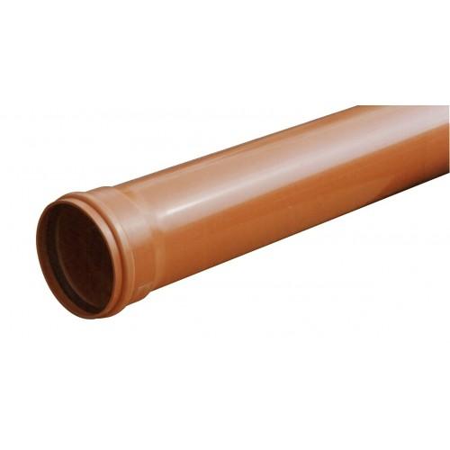 PIPELIFE lauko kanaliz. PVC N vamzdis d. 110/ 3.2/ 0,5 m lygus su mova (013512)