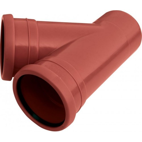 PIPELIFE lauko kanaliz. PVC trišakis 110x110/45°