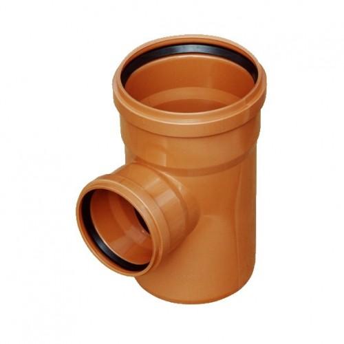 PIPELIFE lauko kanaliz. PVC trišakis 160x160/90°