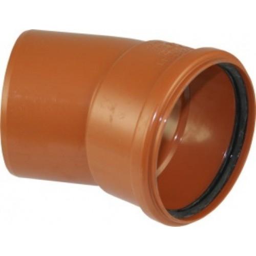PIPELIFE lauko kanaliz. PVC alkūnė 160/30°