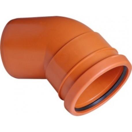 PIPELIFE lauko kanaliz. PVC alkūnė 160/45°