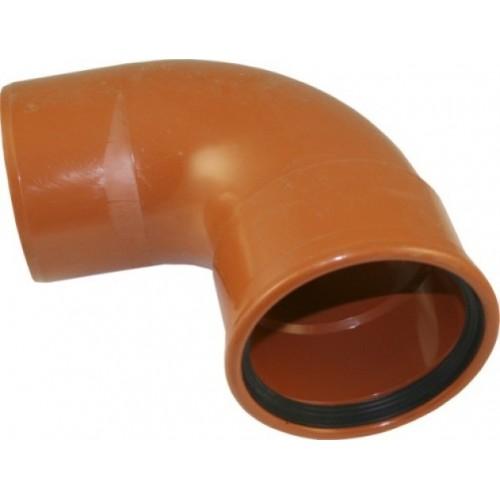 PIPELIFE lauko kanaliz. PVC alkūnė 110/87°