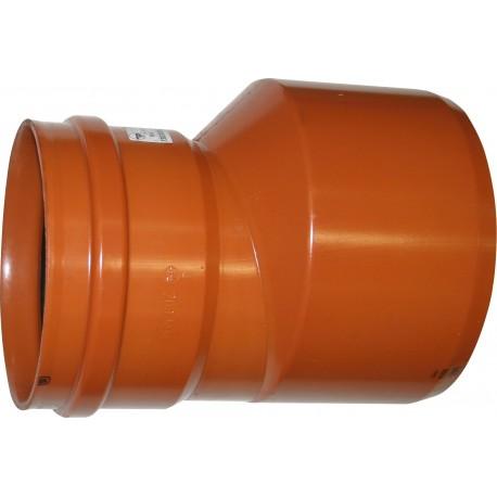 PIPELIFE lauko kanaliz. PVC perėjimas, 160/110, ekscentriškas