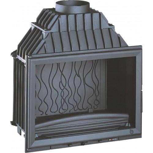 Ketinis židinio ugniakuras Invicta Grande Vision 700 su tiesiu stiklu