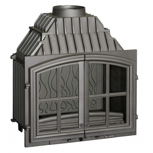Ketinis židinio ugniakuras Invicta Double Porte su dvejomis durelėmis