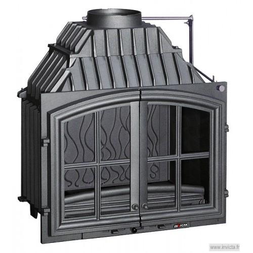 Ketinis židinio ugniakuras Invicta Double Porte su dvejomis durelėmis ir sklende