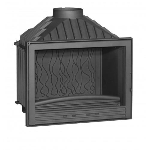 Ketinis židinio ugniakuras Invicta Compact su tiesiu stiklu