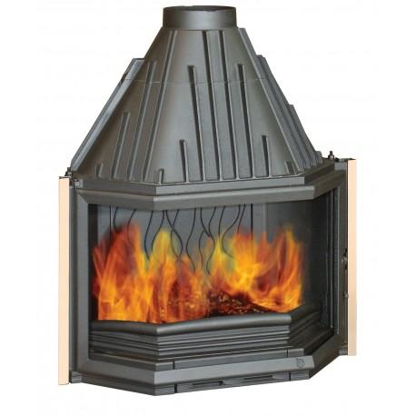 Ketinis židinio ugniakuras Invicta Prismatique 850, su prizminiu stiklu