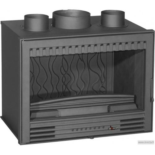 Ketinis židinio įdėklas Invicta Compact 520 C Turbo, su ventiliatoriumi