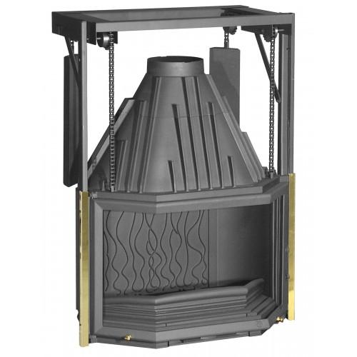 Ketinis židinio ugniakuras Invicta Prismatique 850 su prizminiu kontrsvoriais pakeliamu stiklu