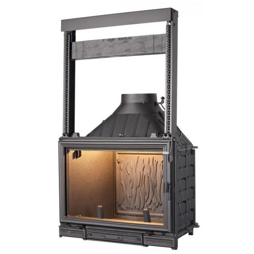 Ketinis židinio ugniakuras Seguin Sunflam, su pakeliamu stiklu (F0300+ES03)
