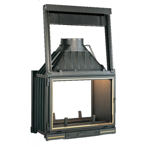 Ketinis židinio ugniakuras Seguin Multivision 7000, su 2 fasadais ir 1 pakeliamu stiklu (F0704+ES07)