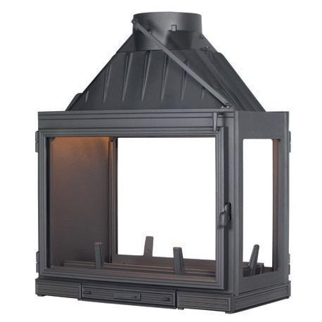 Ketinis židinio ugniakuras Seguin Multivision 7000, su 3 stiklais (2 fasadai ir stiklas iš dešinės) (F0705)