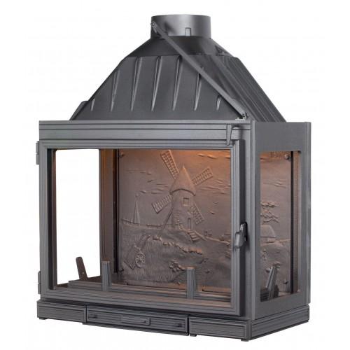 Ketinis židinio ugniakuras Seguin Multivision 8000, su papildomais šoniniais stiklais (F0803)