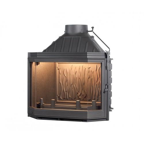 Ketinis židinio ugniakuras Seguin Hexa 7, su prizminiu stiklu (F1000)