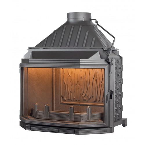 Ketinis židinio ugniakuras Seguin Hexa 8, su prizminiu stiklu (F1100)