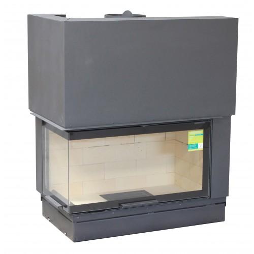 Židinio ugniakuras Axis FH1200PG/WSBlack vientisu kampiniu kairės pusės stiklu
