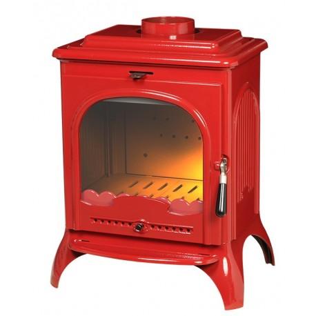 Ketinė krosnelė Invicta SEVILLE 2, raudono emalio spalvos
