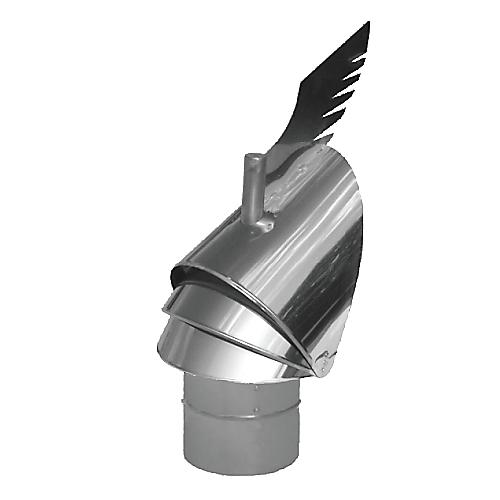 Darco Rotowent Dragon kamino gaubtas R0250CH-DR-B-S, įleidžiamas į dūmtraukį