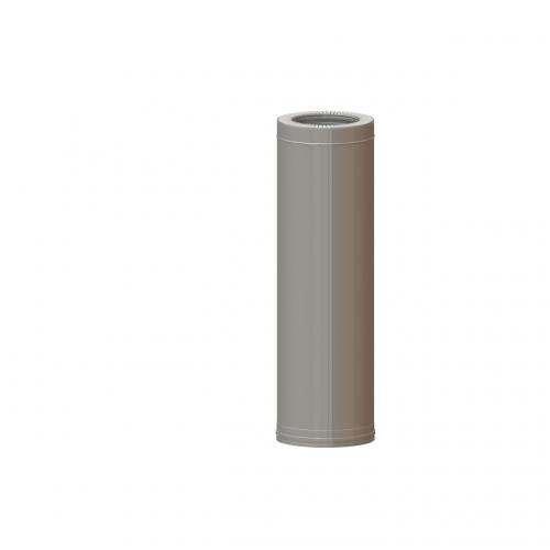 Dvisienis dūmtraukis NPNP (S-0.8mm) d.115/215 L-0.25m