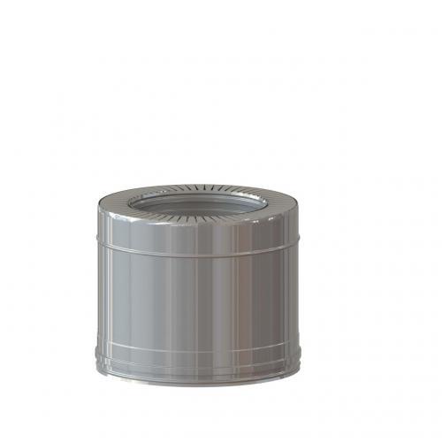 Dvisienis dūmtraukis NPNP (S-0.8mm) d.115/215