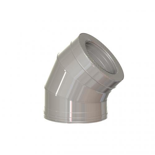 Dvisienė alkūnė NPNP (S-0.8mm) 45° d.130/230