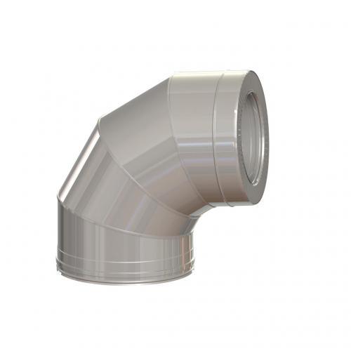 Dvisienė alkūnė NPNP (S-0.8mm) 85° d.130/230