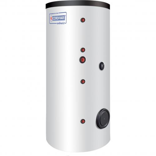 Karšto vandens šildytuvas Cordivari BOLLY 2 AP su dviem gyvatukais, 200 l, šilumokaičių plotas 1,42 ir 0,41 m²