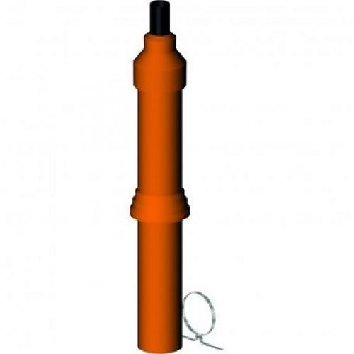 LIK vertikali ortakio-dūmtraukio sistema d80/125 (terakot sp. 1,1m)
