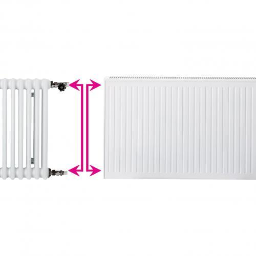 Renovacinis plieninis radiatorius HM 22C-AT-55-0600, prijungimas šoninis