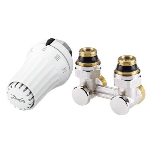 """Kampinis ventilis RLV-KS H 1/2"""" + termostatinis elementas RAE-K5034, temperatūrinės ribos 8-28 °C"""