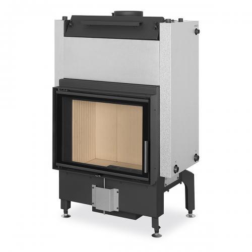 Plieninis židinio ugniakuras Romotop Dynamic DW2M01 66.50.01 su šilumokaičiu