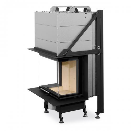 Plieninis židinio ugniakuras Romotop Heat HC3LE01+K1 50.52.31 su montavimo rėmu, stiklas lenktas