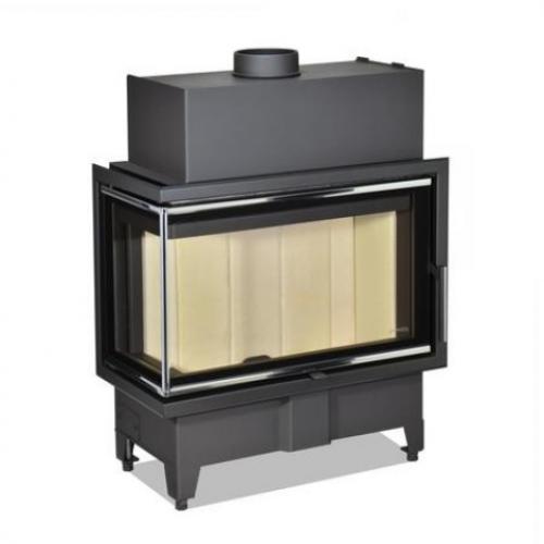 Židinio ugniakuras kampinis HL2SX23 70.44.33 dviejų dalių kairės pusės stiklu 44 cm ir atv. durimis