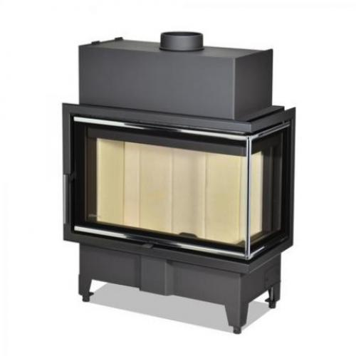 Židinio ugniakuras kampinis HR2SX23 70.44.33 dviejų dalių dešinės pusės stiklu 44 cm ir atv. durimis